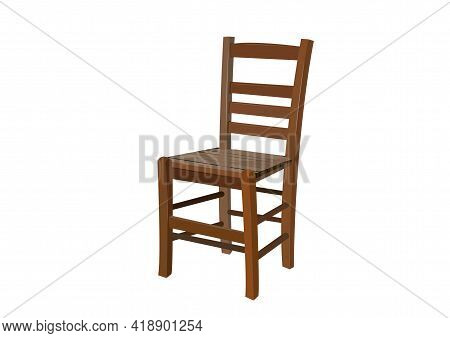 Old Style Wooden Chair. Wooden Chair. Classic Chair. Wooden Chair Design. Vector
