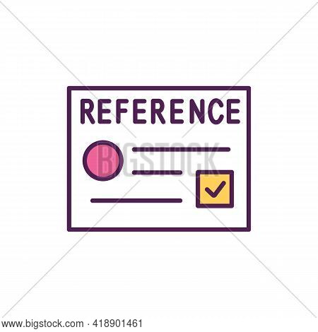 Get References Rgb Color Icon. Provide A List Of Employment References. Have Some Recommendation Let