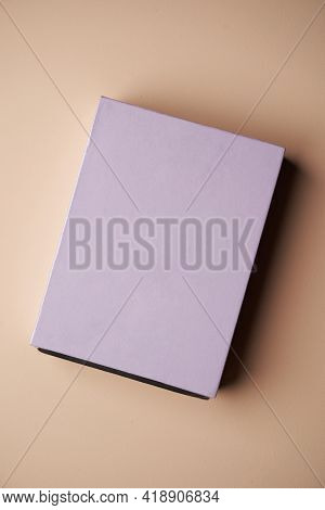 Colorful Cardboard Box On Pastel Color Background With Copy Space