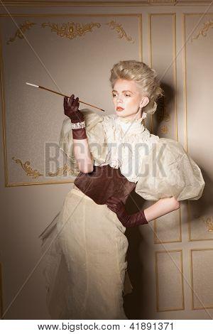 Elegant Portrait With Cigarette Holder