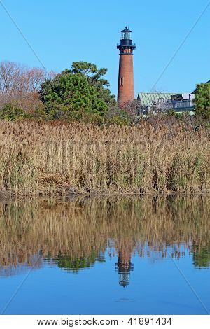 The Currituck Beach Lighthouse Near Corolla, North Carolina Vertical