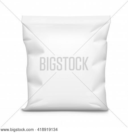 White Foil Food Pouch Snack Sachet Bag Packaging