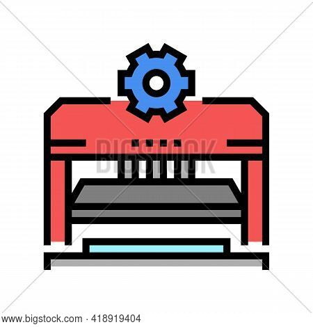 Forming And Punching Parts Car Color Icon Vector. Forming And Punching Parts Car Sign. Isolated Symb
