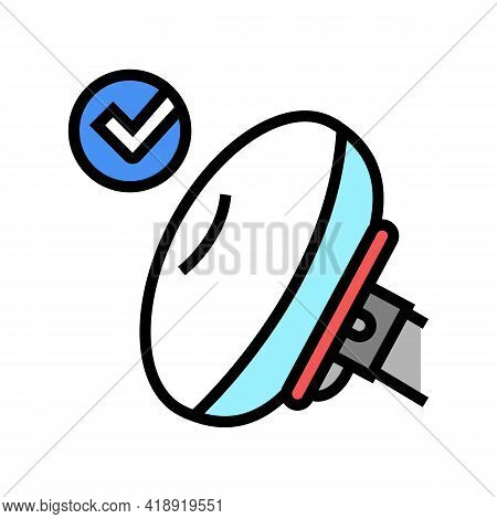 Airbag Testing Car Color Icon Vector. Airbag Testing Car Sign. Isolated Symbol Illustration