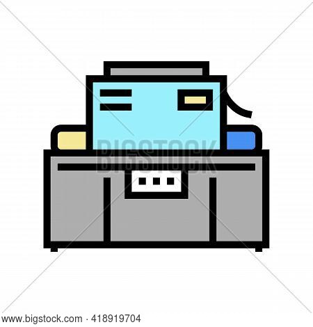 Industrial Machine Cheese Production Color Icon Vector. Industrial Machine Cheese Production Sign. I