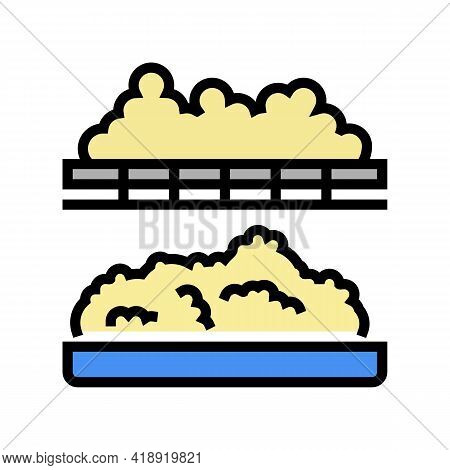 Coagulation Cheese Production Color Icon Vector. Coagulation Cheese Production Sign. Isolated Symbol