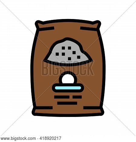 Cement Bag Color Icon Vector. Cement Bag Sign. Isolated Symbol Illustration