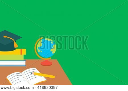 Classroom background with education objects