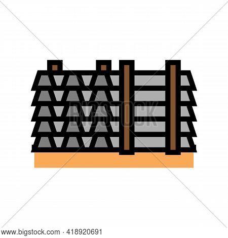 Floor Beams Concrete Color Icon Vector. Floor Beams Concrete Sign. Isolated Symbol Illustration