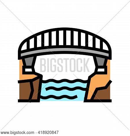 Bridge Concrete Color Icon Vector. Bridge Concrete Sign. Isolated Symbol Illustration