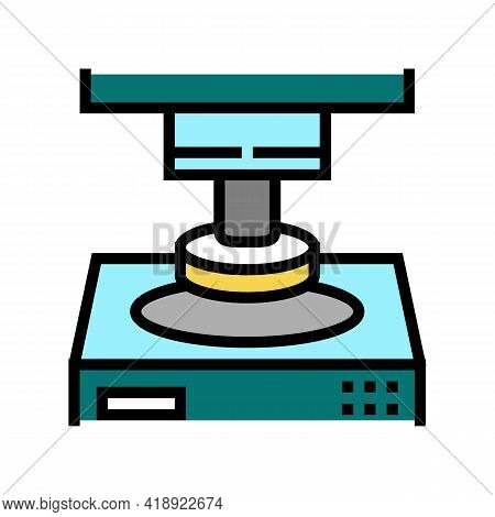Press Equipment Semiconductor Manufacturing Color Icon Vector. Press Equipment Semiconductor Manufac