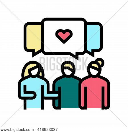 Meeting With Girlfriends Leisure Color Icon Vector. Meeting With Girlfriends Leisure Sign. Isolated