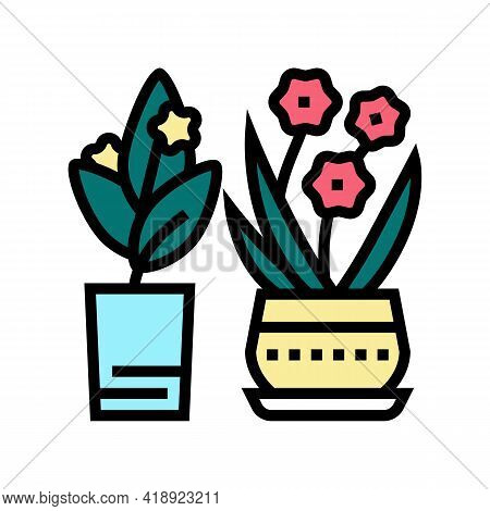 Flowers Leisure Color Icon Vector. Flowers Leisure Sign. Isolated Symbol Illustration
