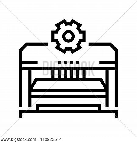 Forming And Punching Parts Car Line Icon Vector. Forming And Punching Parts Car Sign. Isolated Conto