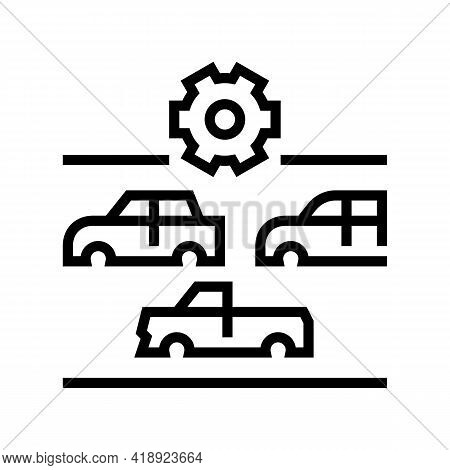 Choice Of Car Body Type Line Icon Vector. Choice Of Car Body Type Sign. Isolated Contour Symbol Blac