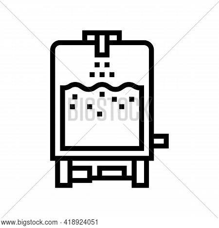 Technology Cheese Production Line Icon Vector. Technology Cheese Production Sign. Isolated Contour S