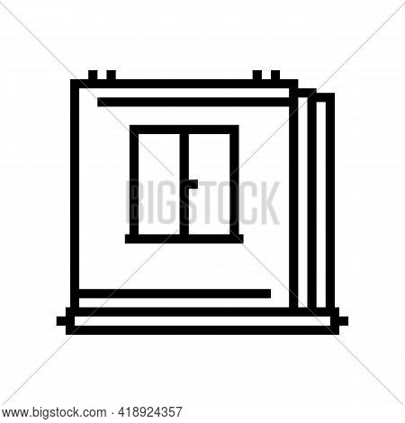 Walls Of Panel House Line Icon Vector. Walls Of Panel House Sign. Isolated Contour Symbol Black Illu