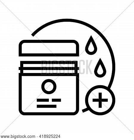 Moisturizing Cream Line Icon Vector. Moisturizing Cream Sign. Isolated Contour Symbol Black Illustra