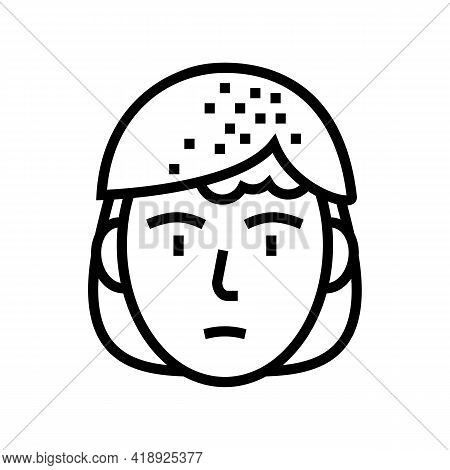 Seborrheic Dermatitis Line Icon Vector. Seborrheic Dermatitis Sign. Isolated Contour Symbol Black Il