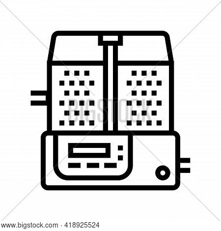 Mixing Pharmaceutical Production Line Icon Vector. Mixing Pharmaceutical Production Sign. Isolated C