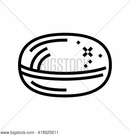 Pill Pharmaceutical Production Line Icon Vector. Pill Pharmaceutical Production Sign. Isolated Conto