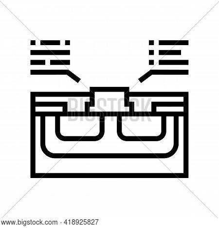 Characteristics Semiconductor Line Icon Vector. Characteristics Semiconductor Sign. Isolated Contour