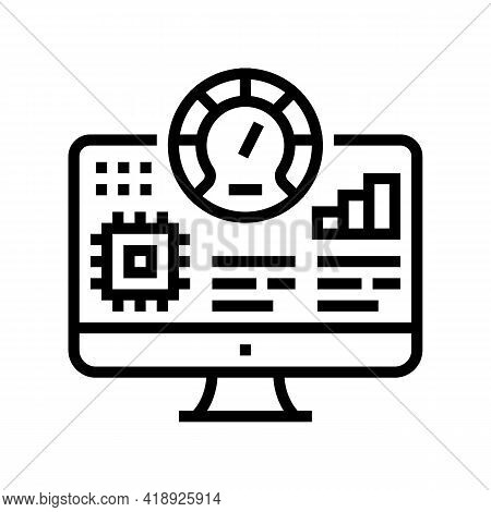 Testing Semiconductor Manufacturing Line Icon Vector. Testing Semiconductor Manufacturing Sign. Isol