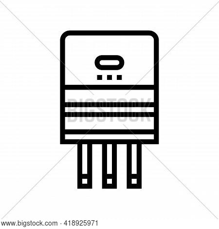 Semiconductor Production Line Icon Vector. Semiconductor Production Sign. Isolated Contour Symbol Bl