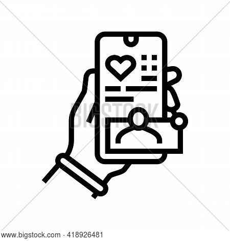 Social Network Leisure Line Icon Vector. Social Network Leisure Sign. Isolated Contour Symbol Black