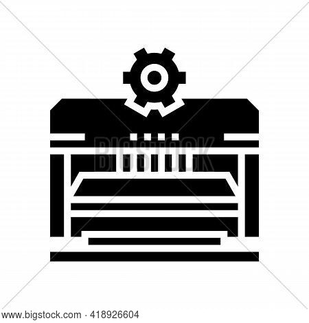 Forming And Punching Parts Car Glyph Icon Vector. Forming And Punching Parts Car Sign. Isolated Cont