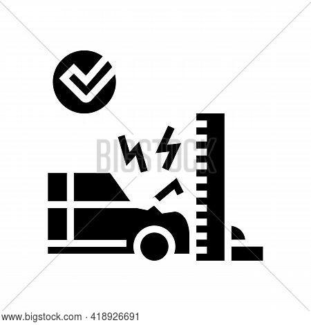 Crash Test Car Glyph Icon Vector. Crash Test Car Sign. Isolated Contour Symbol Black Illustration