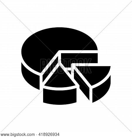 Cooked Cheese Food Dairy Product Glyph Icon Vector. Cooked Cheese Food Dairy Product Sign. Isolated