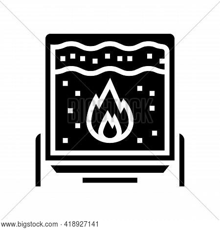 Scalding Cheese Equipment Glyph Icon Vector. Scalding Cheese Equipment Sign. Isolated Contour Symbol