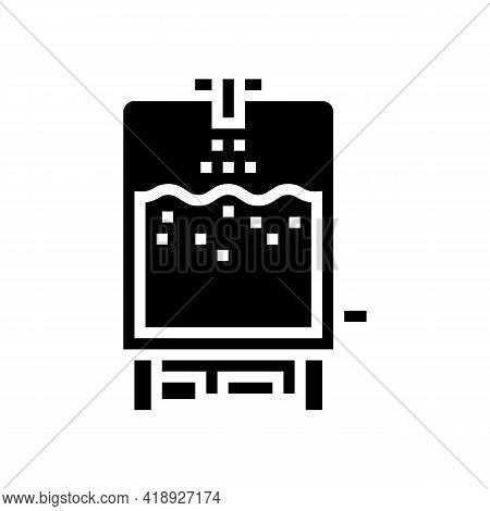 Technology Cheese Production Glyph Icon Vector. Technology Cheese Production Sign. Isolated Contour