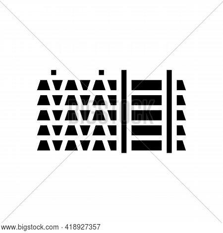 Floor Beams Concrete Glyph Icon Vector. Floor Beams Concrete Sign. Isolated Contour Symbol Black Ill