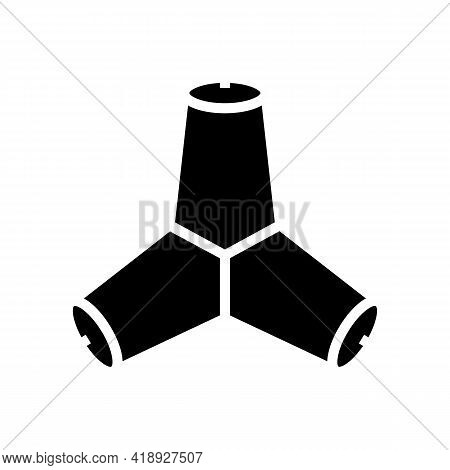 Breakwater Concrete Glyph Icon Vector. Breakwater Concrete Sign. Isolated Contour Symbol Black Illus