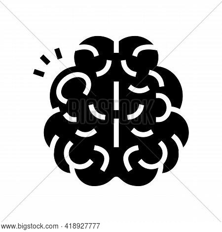 Stroke Brain Disease Glyph Icon Vector. Stroke Brain Disease Sign. Isolated Contour Symbol Black Ill