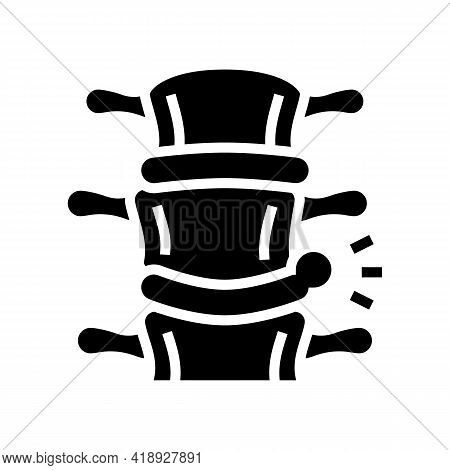 Spinal Hernia Disease Glyph Icon Vector. Spinal Hernia Disease Sign. Isolated Contour Symbol Black I