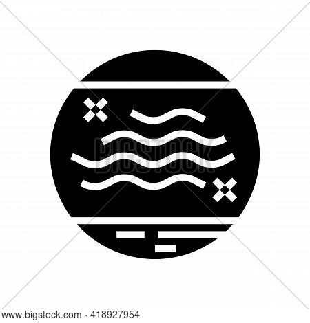 Dry Skin Glyph Icon Vector. Dry Skin Sign. Isolated Contour Symbol Black Illustration