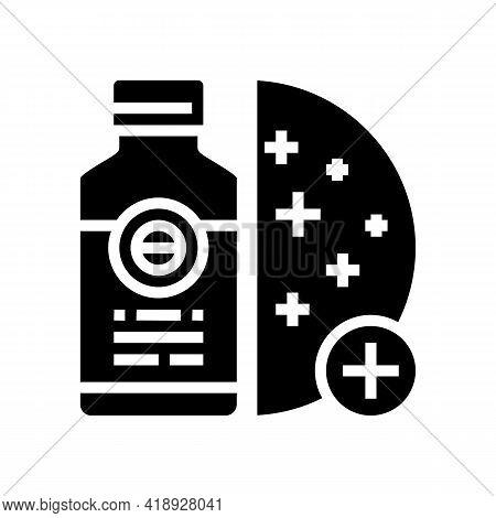 Skin Regeneration Medicament Glyph Icon Vector. Skin Regeneration Medicament Sign. Isolated Contour