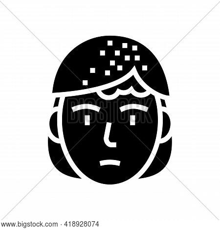 Seborrheic Dermatitis Glyph Icon Vector. Seborrheic Dermatitis Sign. Isolated Contour Symbol Black I