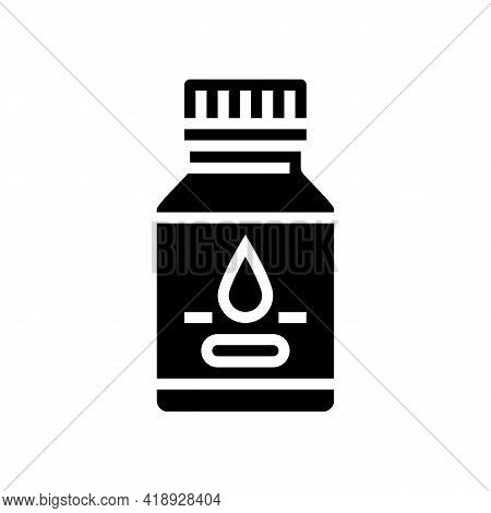 Syrup Pharmaceutical Production Glyph Icon Vector. Syrup Pharmaceutical Production Sign. Isolated Co