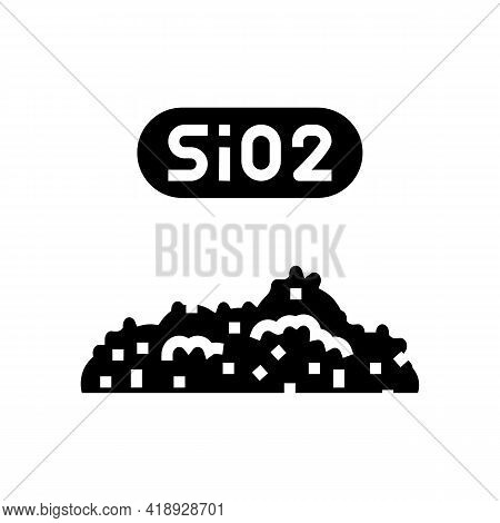 Sio2 Semiconductor Manufacturing Glyph Icon Vector. Sio2 Semiconductor Manufacturing Sign. Isolated