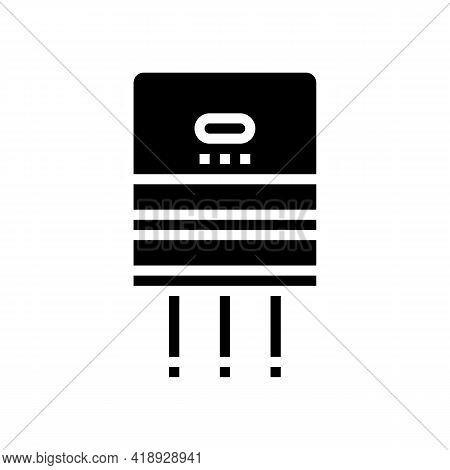 Semiconductor Production Glyph Icon Vector. Semiconductor Production Sign. Isolated Contour Symbol B