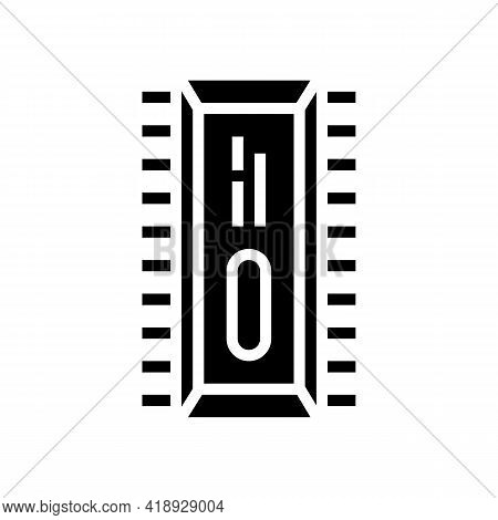 Microchip Semiconductor Manufacturing Glyph Icon Vector. Microchip Semiconductor Manufacturing Sign.