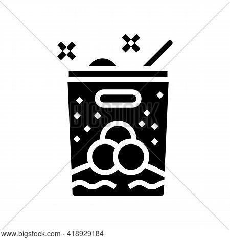 Ice Cream Leisure Glyph Icon Vector. Ice Cream Leisure Sign. Isolated Contour Symbol Black Illustrat