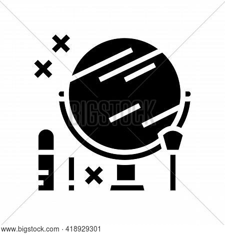 Makeup Leisure Glyph Icon Vector. Makeup Leisure Sign. Isolated Contour Symbol Black Illustration