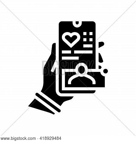 Social Network Leisure Glyph Icon Vector. Social Network Leisure Sign. Isolated Contour Symbol Black