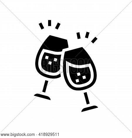 Wine Leisure Glyph Icon Vector. Wine Leisure Sign. Isolated Contour Symbol Black Illustration