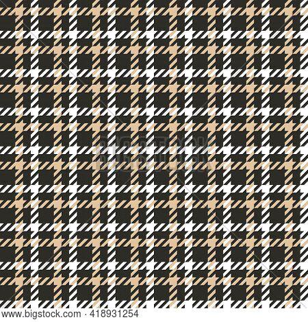 Houndstooth Seamless Pattern. Tartan Tweed Print. Vector.